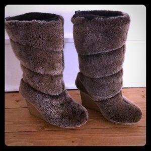 Tory Burch Kiki Shearling Wedge Boot